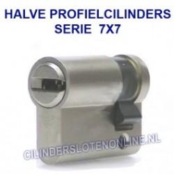 Halve profielcilinders serie 7x7